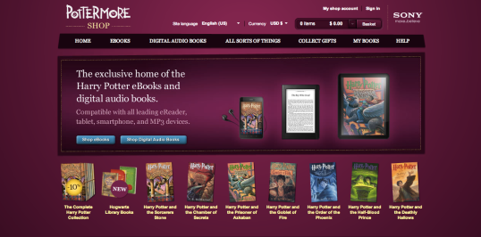 The Pottermore Shop