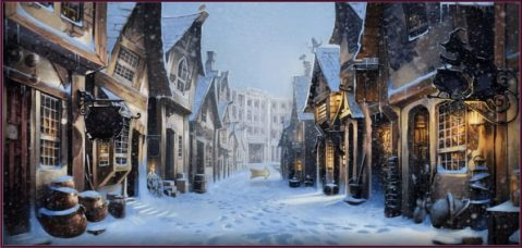 Snowfall at Diagon Alley