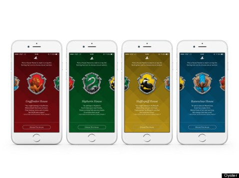 """House Themes"", inspired by the Hogwarts houses, as seen on Oyster."
