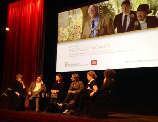 Cast members of The Casual Vacancy miniseries at the event last night. - via @ianwylie on Twitter