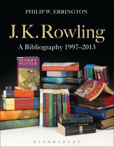 The cover of J.K. Rowling: A Bibliography (1997-2013) by Phillip W. Errington.