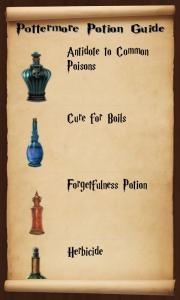 The Potion page as it appears in the app.