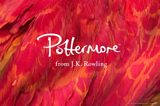 Pottermore will relaunch in the coming weeks with this new logo, written by J.K. Rowling, at large.